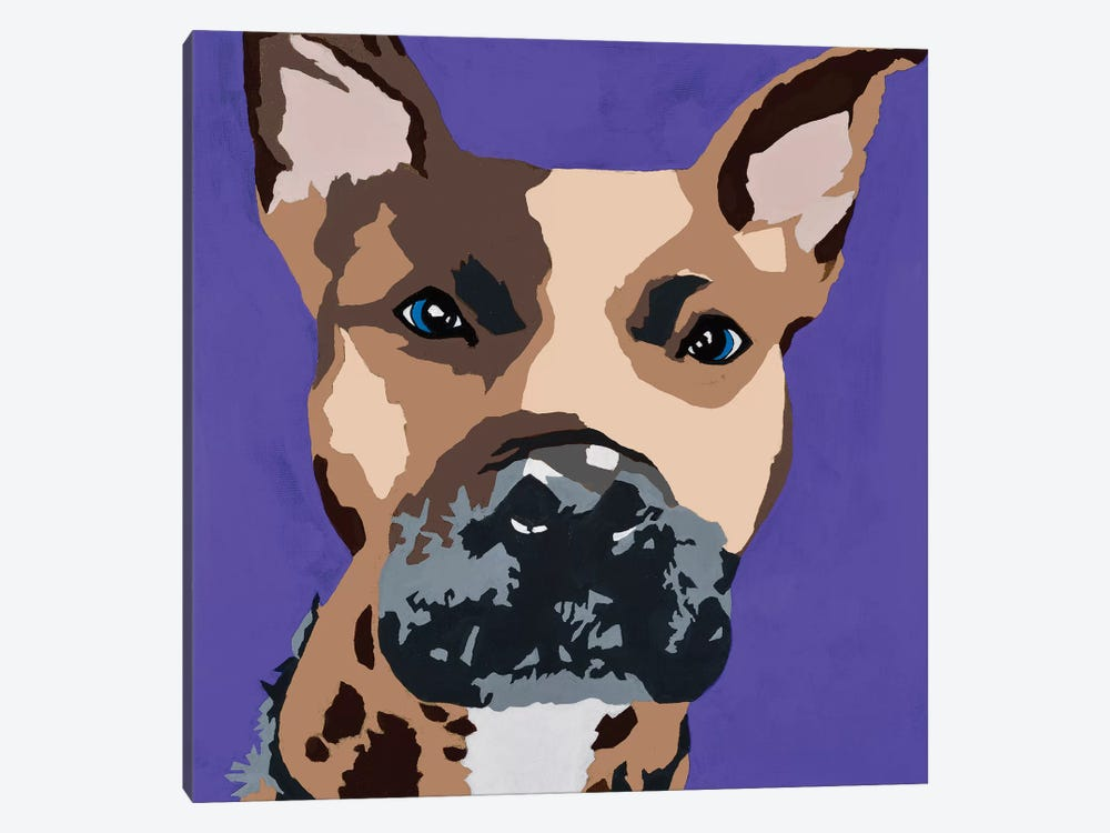 Prince The Pit On Purple by Julie Ahmad 1-piece Canvas Artwork