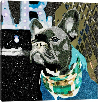 Biggie In Blue Canvas Art Print