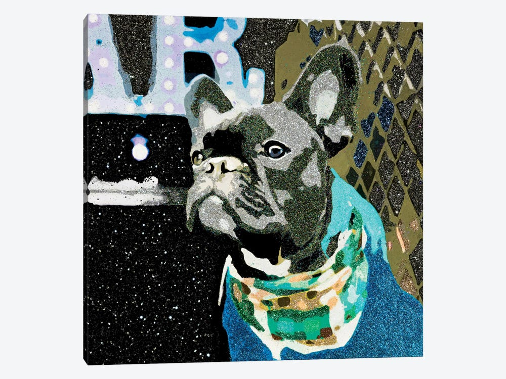 Biggie In Blue by Julie Ahmad 1-piece Canvas Art