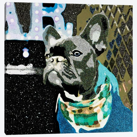 Biggie In Blue Canvas Print #AHM7} by Julie Ahmad Canvas Wall Art