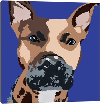 Prince The Pit On Royal Blue Canvas Art Print