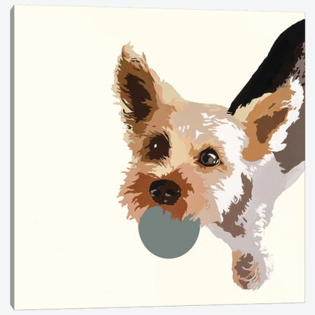 Rex On Cream Canvas Print #AHM81} by Julie Ahmad Art Print