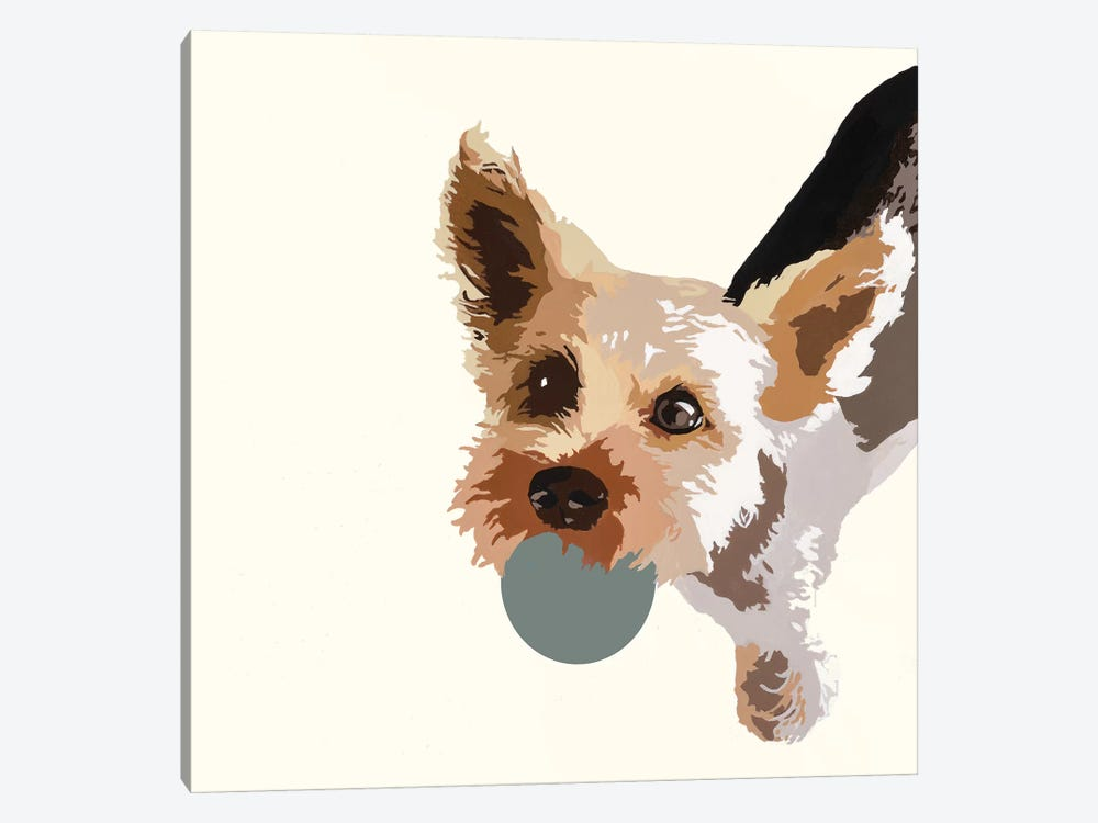 Rex On Cream by Julie Ahmad 1-piece Art Print