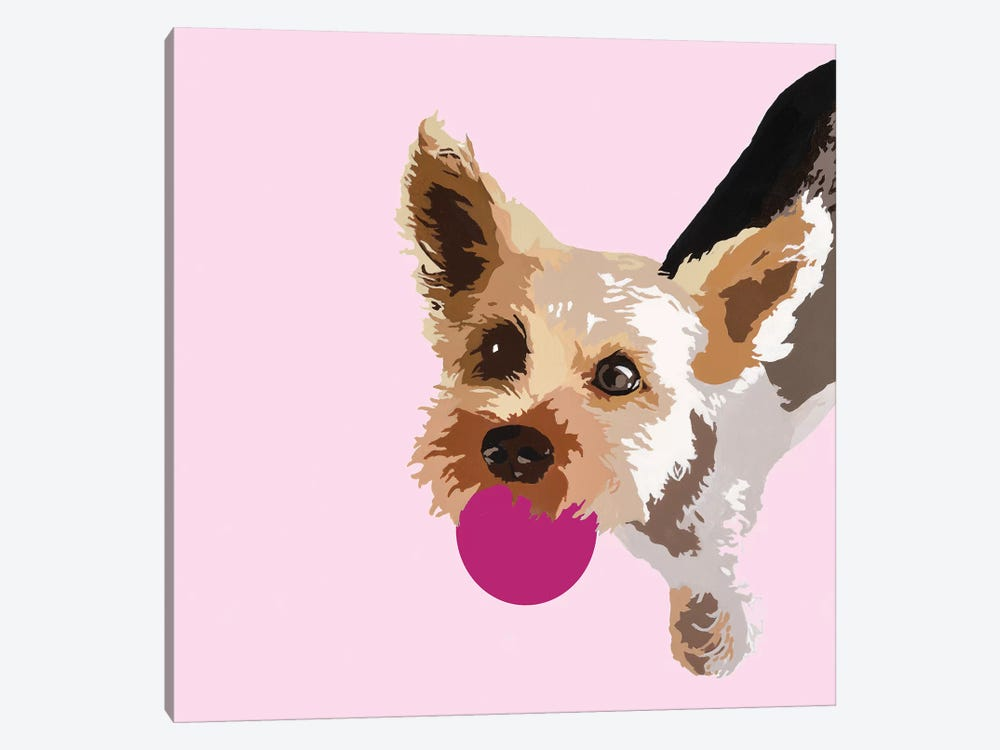 Rex On Pink by Julie Ahmad 1-piece Canvas Art Print