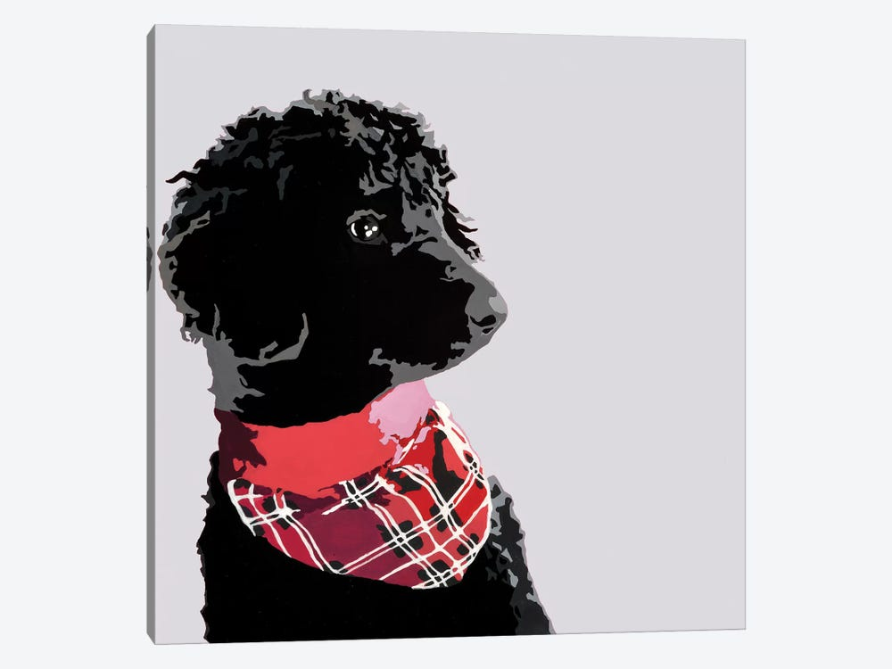 Standard Black Poodle II by Julie Ahmad 1-piece Canvas Art Print