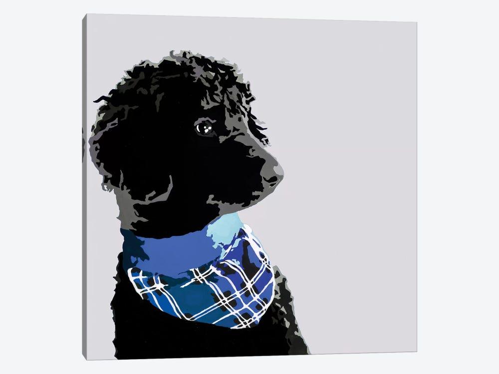 Standard Black Poodle III by Julie Ahmad 1-piece Canvas Wall Art