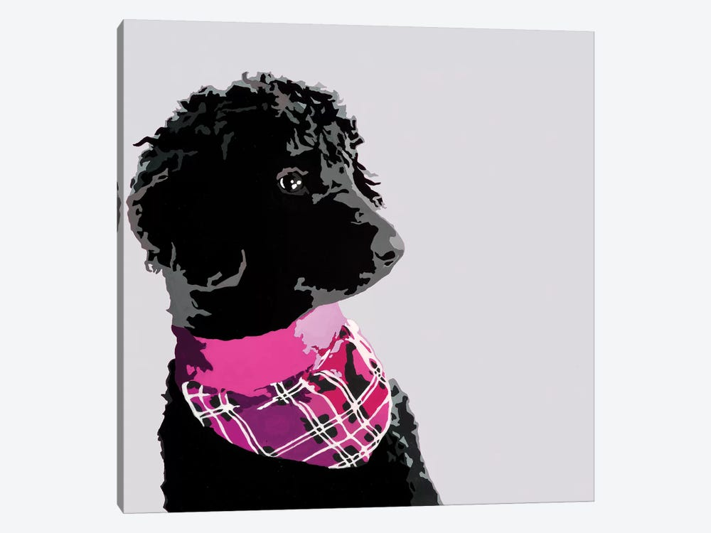 Standard Black Poodle IV by Julie Ahmad 1-piece Art Print