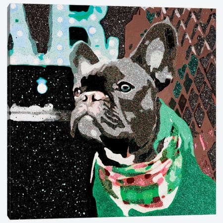 Biggie In Green Canvas Print #AHM8} by Julie Ahmad Canvas Art Print
