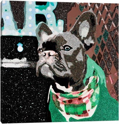 Biggie In Green Canvas Art Print