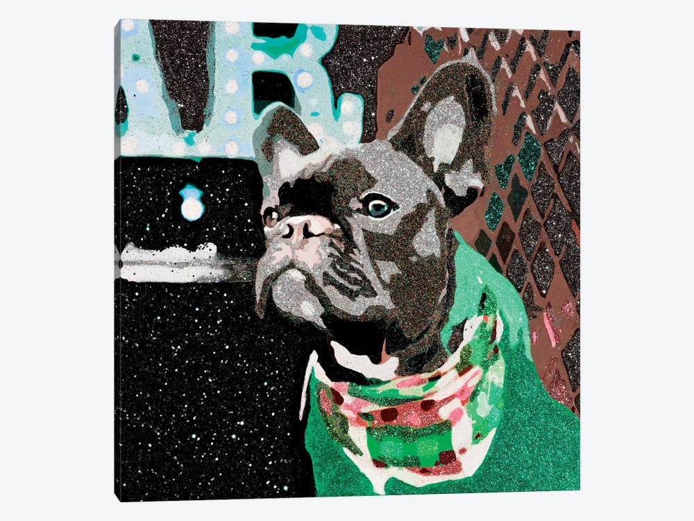 Biggie In Green by Julie Ahmad 1-piece Art Print