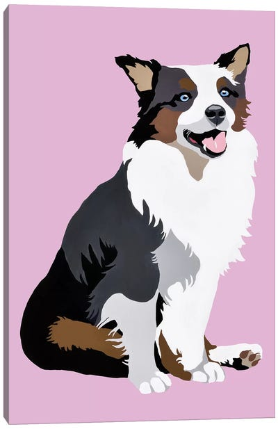 Woof On Lavender Canvas Art Print