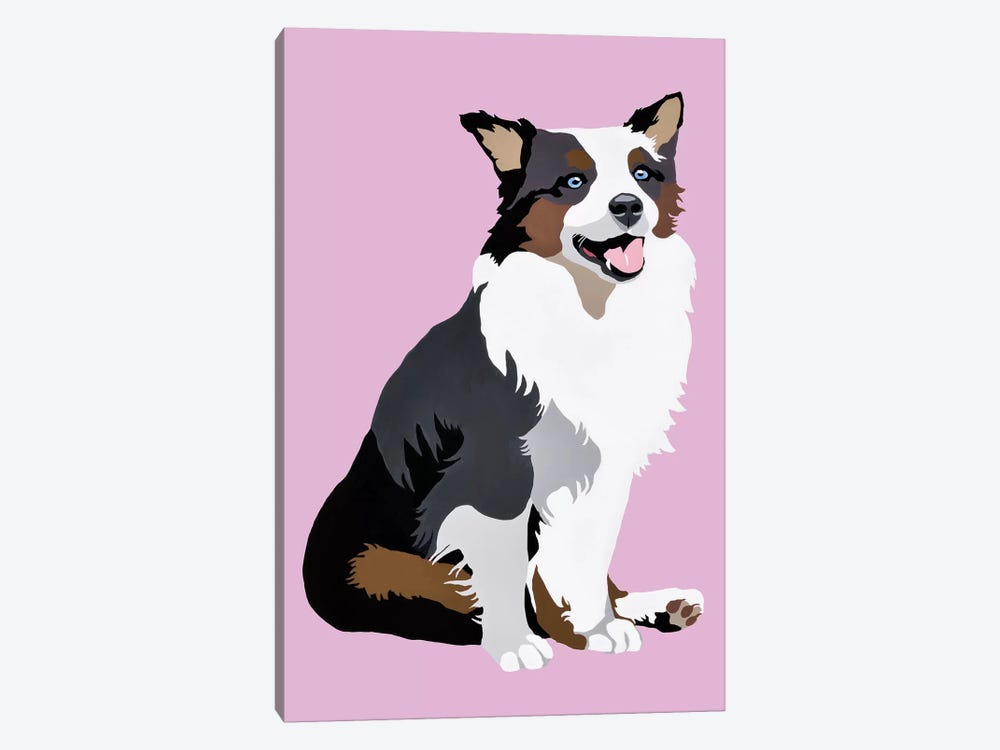 Woof On Lavender by Julie Ahmad 1-piece Canvas Art Print