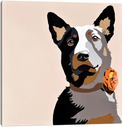 Jasper Orange Canvas Art Print