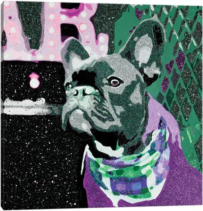 Biggie In Purple Canvas Art Print