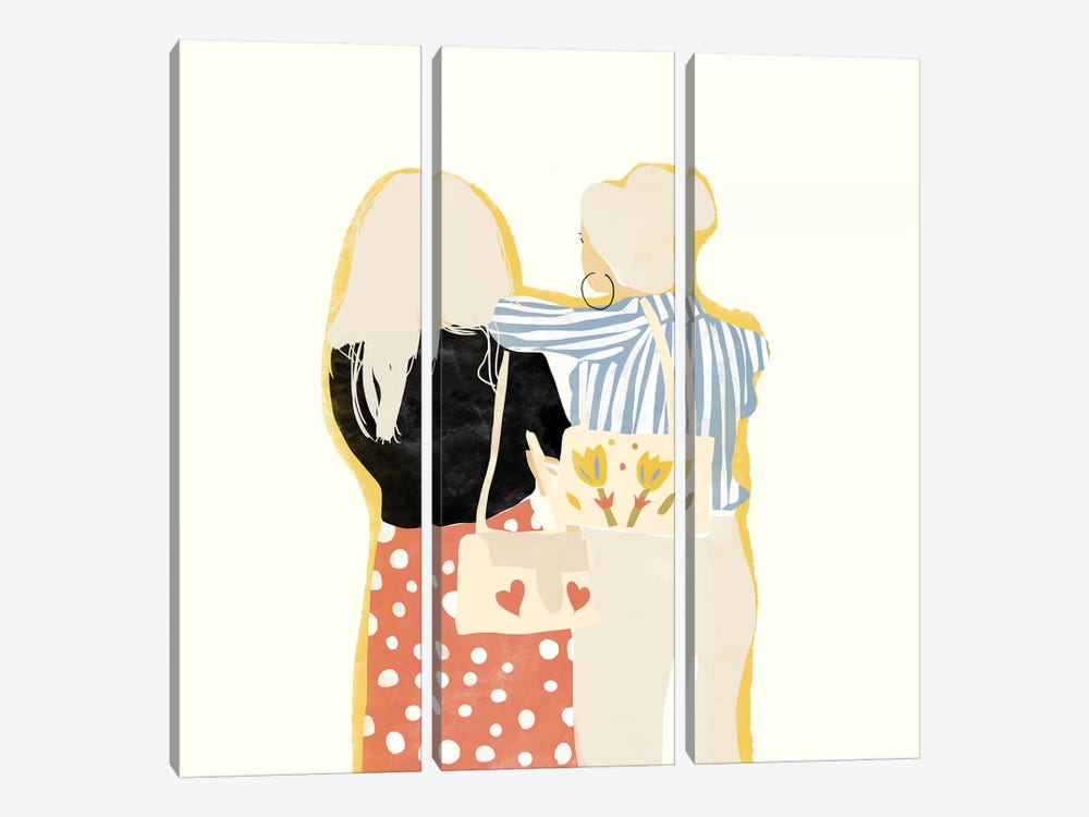 Fashion Friends by Alja Horvat 3-piece Canvas Artwork