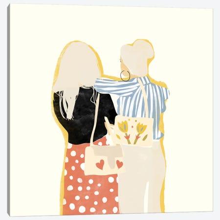 Fashion Friends Canvas Print #AHO12} by Alja Horvat Canvas Art