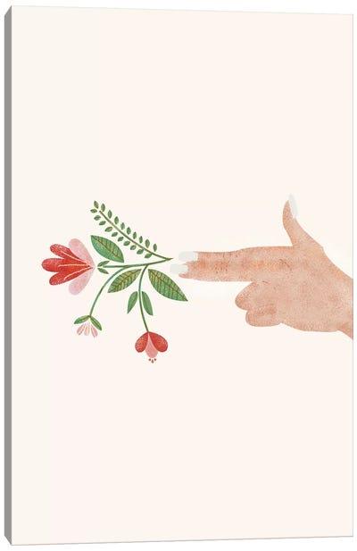 Floral Pistol Canvas Art Print