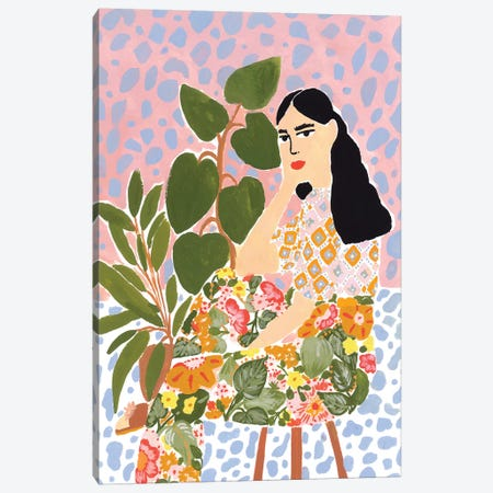 Floral Lady Canvas Print #AHO14} by Alja Horvat Canvas Print