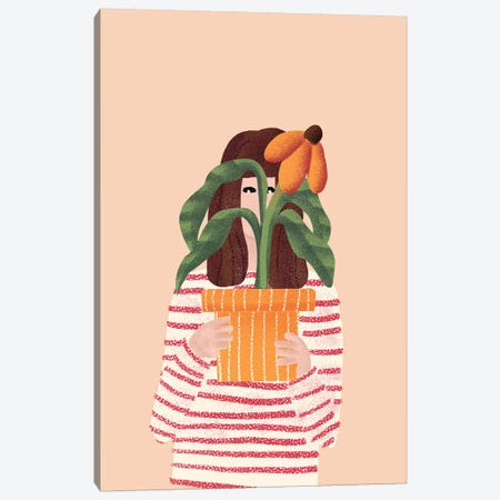 Girl And Her Plant Canvas Print #AHO16} by Alja Horvat Art Print