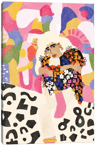 Abstract Girl Canvas Art Print