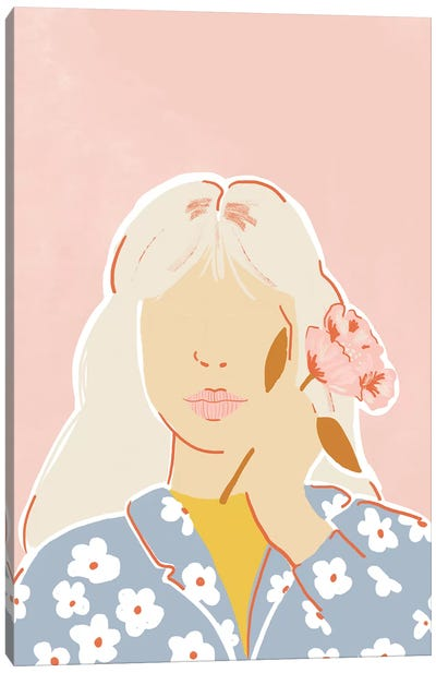 Pastel Flower Canvas Art Print