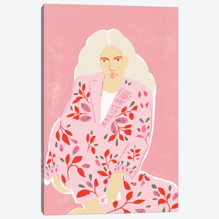 Pink Girl Canvas Print #AHO27} by Alja Horvat Canvas Art