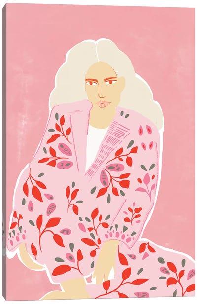 Pink Girl Canvas Art Print