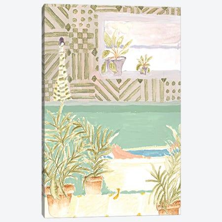Plant Bathroom Canvas Print #AHO28} by Alja Horvat Canvas Art Print