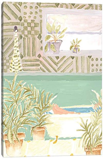 Plant Bathroom Canvas Art Print