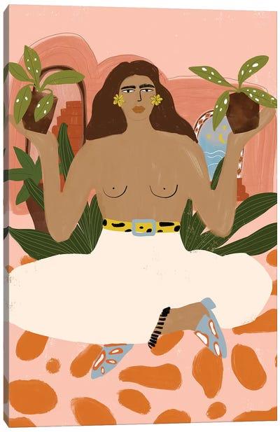 Plant Lady Canvas Art Print