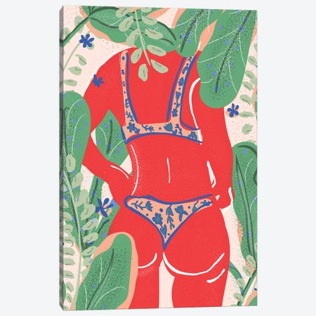 Summer Bikini Canvas Print #AHO36} by Alja Horvat Canvas Art Print