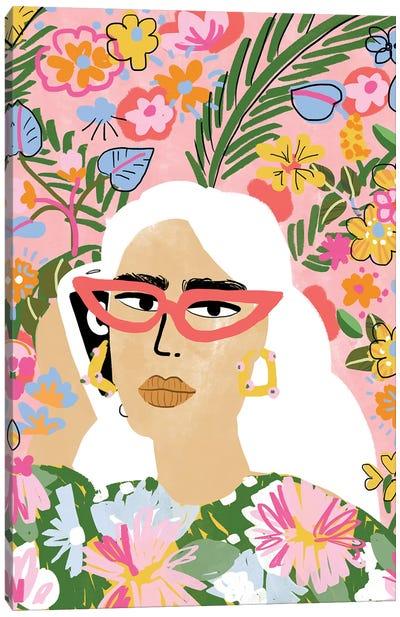 Sunglasses Girl Canvas Art Print