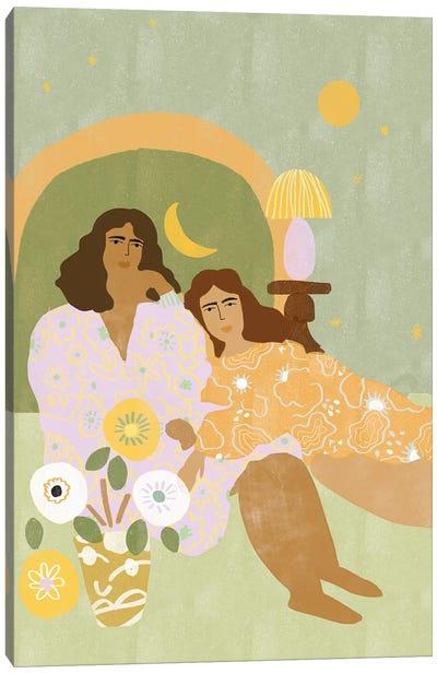 Violet Lamp Canvas Art Print