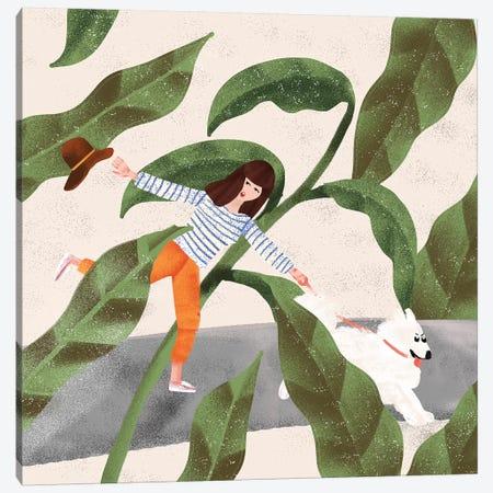 Walking My Dog Canvas Print #AHO41} by Alja Horvat Canvas Art Print