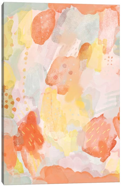 Watercolor Abstract Canvas Art Print