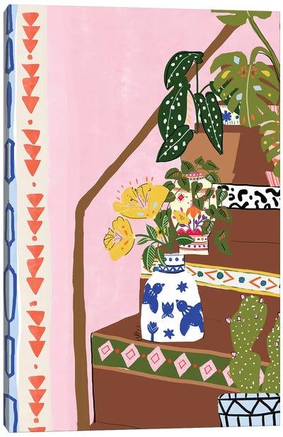 Bohemian Stairs Canvas Art Print
