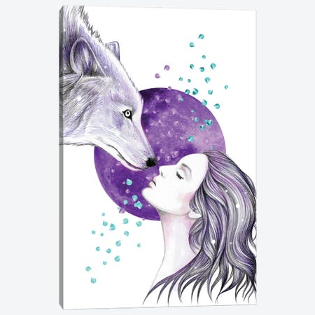 Some Things Cosmic Canvas Print #AHR101} by Andrea Hrnjak Canvas Wall Art