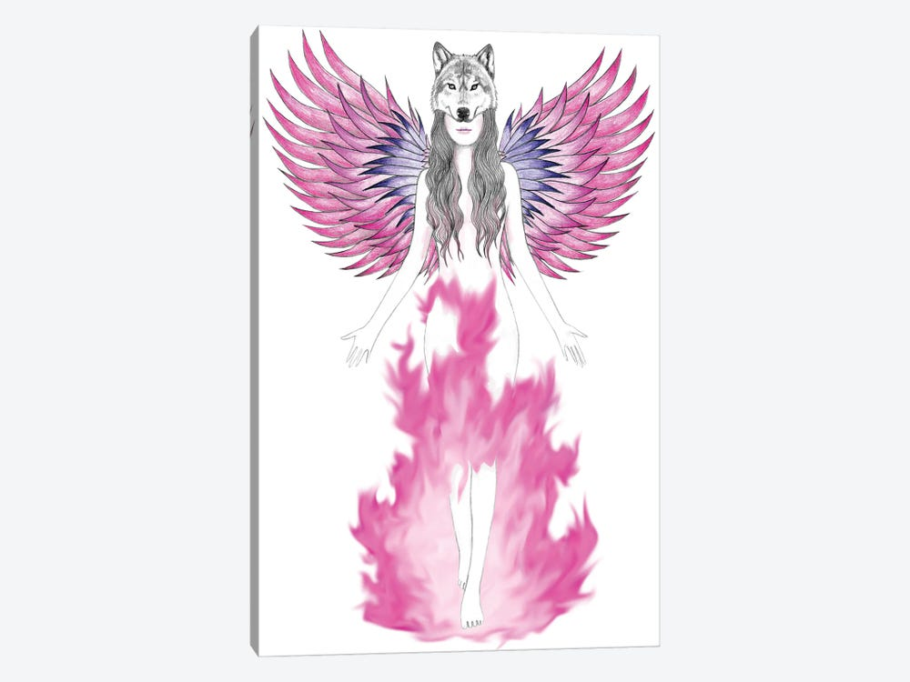 Phoenix by Andrea Hrnjak 1-piece Canvas Art Print