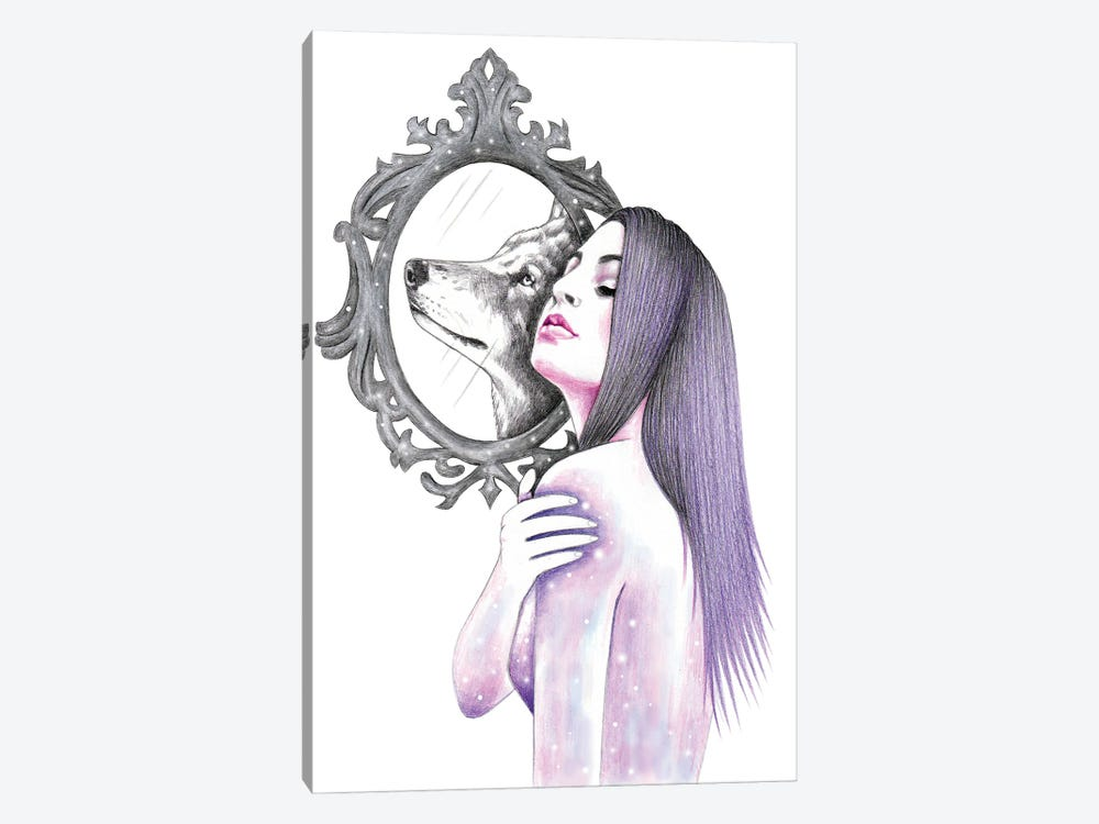 Mirroring by Andrea Hrnjak 1-piece Canvas Wall Art