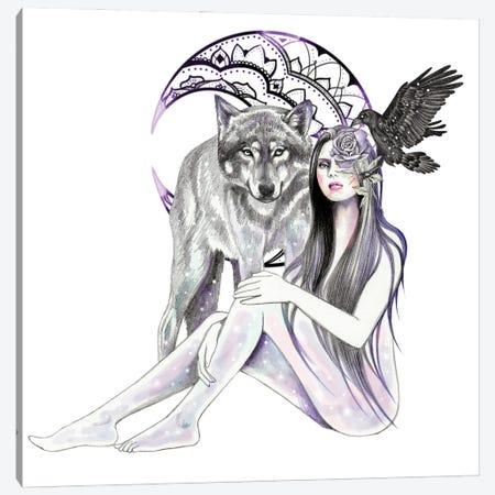 Moon Mandala Canvas Print #AHR105} by Andrea Hrnjak Art Print