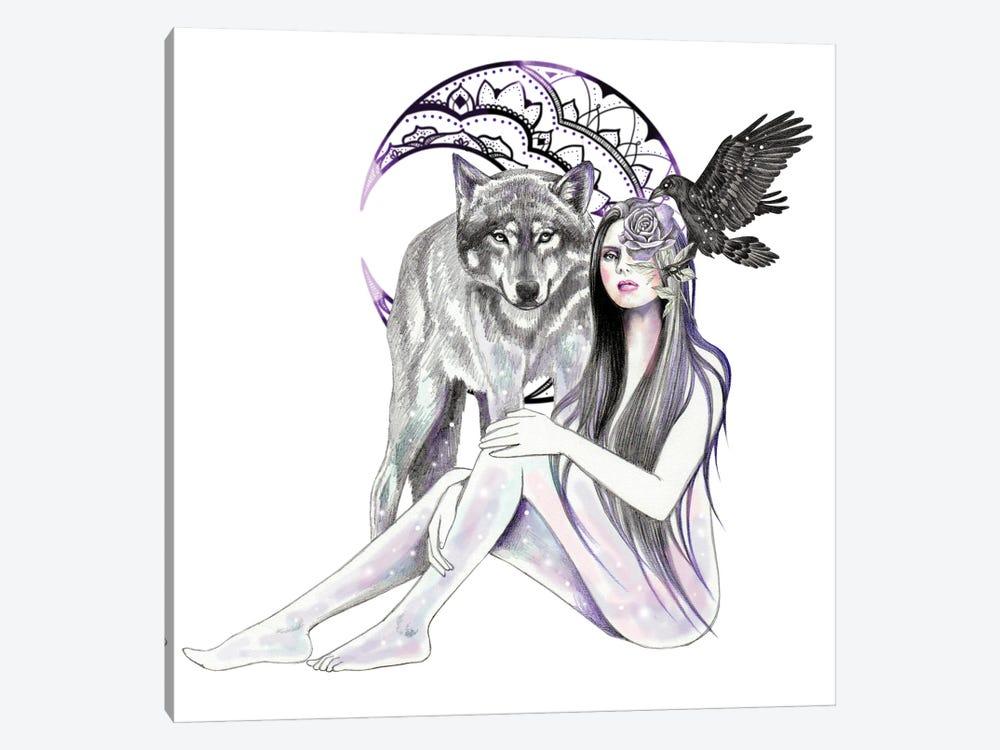 Moon Mandala by Andrea Hrnjak 1-piece Canvas Artwork