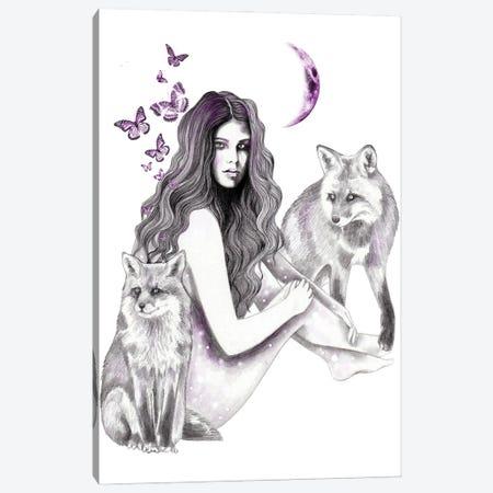 Foxes Canvas Print #AHR106} by Andrea Hrnjak Canvas Art Print