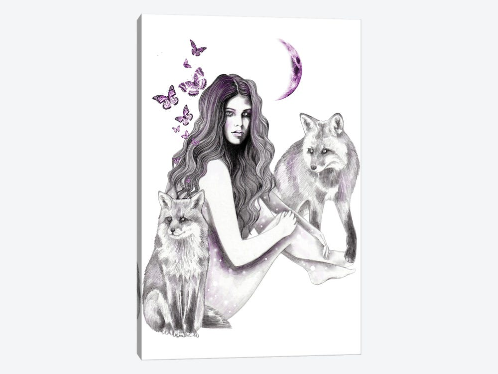 Foxes by Andrea Hrnjak 1-piece Art Print