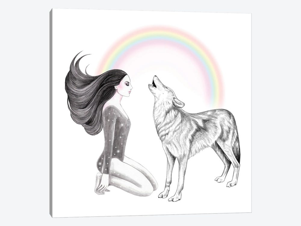 Rainbow In The Sky by Andrea Hrnjak 1-piece Art Print