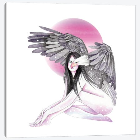 Eagle Canvas Print #AHR109} by Andrea Hrnjak Canvas Wall Art