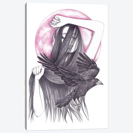 Crow Dance Canvas Print #AHR10} by Andrea Hrnjak Art Print