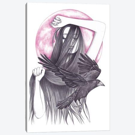 Crow Dance Canvas Print #AHR10} by Andrea Hrnjak Art Print
