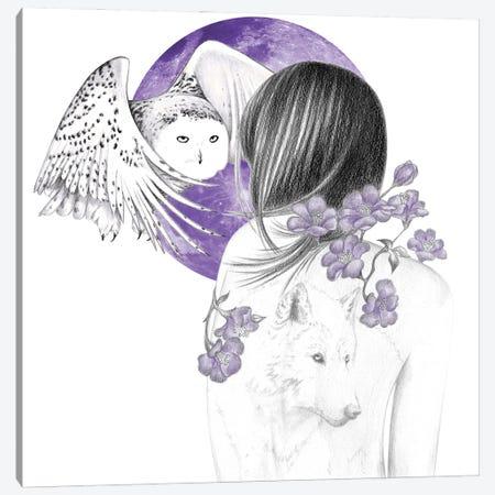 Purple Moon Canvas Print #AHR113} by Andrea Hrnjak Canvas Print
