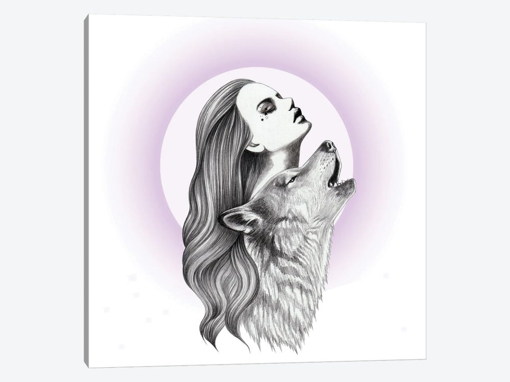 Howling by Andrea Hrnjak 1-piece Canvas Print