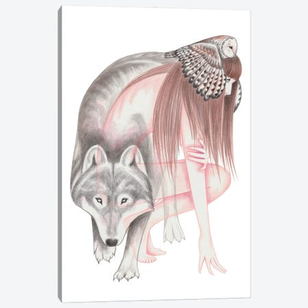 When Wolves Become Birds Canvas Print #AHR116} by Andrea Hrnjak Canvas Artwork